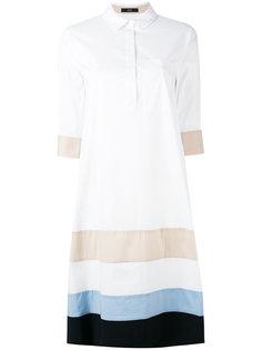 платье-рубашка с полосатыми панелями Steffen Schraut