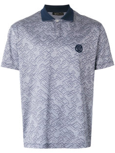 рубашка-поло с узором Versace