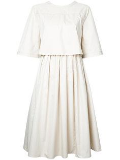 расклешенное платье миди  Jil Sander Navy