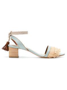 block heel lace up sandals Sarah Chofakian