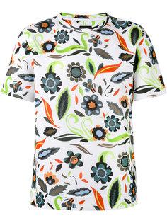 футболка с цветочным принтом Fendi