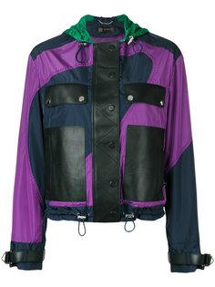 куртка с контрастными панелями Versace