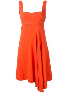 расклешенное платье с асимметричным подолом Victoria Beckham