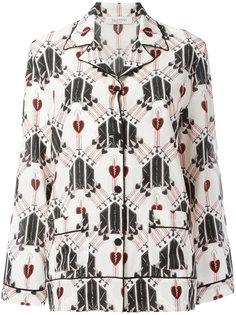 блузка с принтом кинжалов Valentino