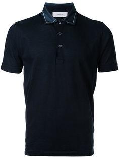 футболка-поло с контрастным воротником  Cerruti 1881