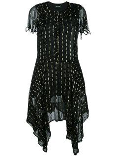 асимметричное расклешенное платье  Zadig & Voltaire