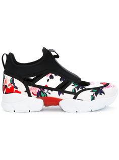 кроссовки с цветочным принтом MSGM