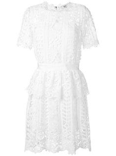 floral lattice lace dress Blugirl