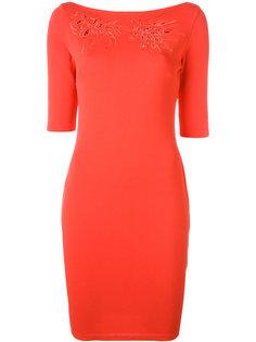 облегающее платье с вырезом лодочкой  Blumarine