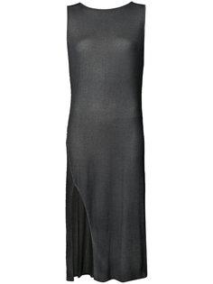 платье в рубчик с разрезом сбоку Avant Toi