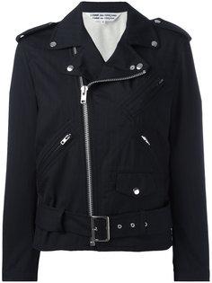 ruffled sleeves biker jacket Comme Des Garçons Comme Des Garçons