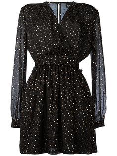платье с длинными рукавами и узором в горох Just Cavalli