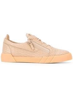 кроссовки с эффектом крокодиловой кожи Giuseppe Zanotti Design