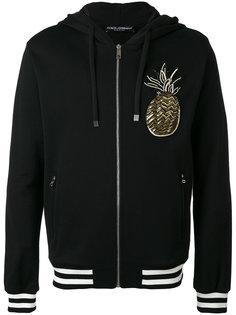 pineapple patch zip hoodie Dolce & Gabbana