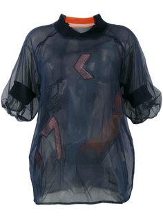 многослойная полупрозрачная блузка Quetsche