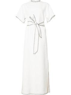 расклешенное платье с поясом Derek Lam