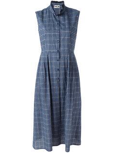 платье в клетку с высокой горловиной Hache