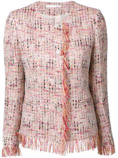 твидовый пиджак с бахромой Tagliatore