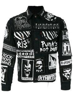 джинсовая куртка с принтом-граффити R13