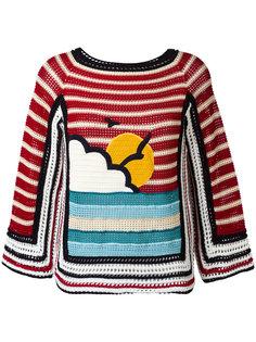crochet knit jumper  Red Valentino