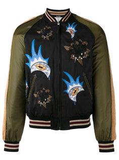 куртка-бомбер с заплатками Coach