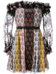 платье с открытыми плечами и принтом Giamba