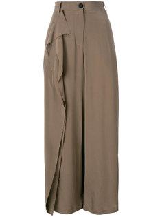 ruffled detail straight trousers Isabel Benenato