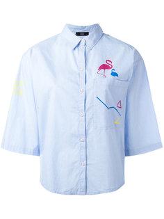 рубашка с фламинго Diesel
