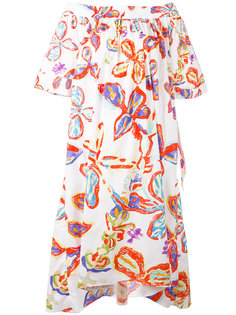 floral bardot dress Peter Pilotto