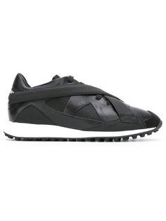 кроссовки с перекрещенными ремешками Dsquared2