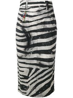 юбка-карандаш с рисунком под зебру Marc Jacobs