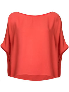 short sleeve draped top Peter Cohen
