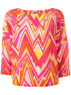 блузка с зигзагообразным принтом M Missoni
