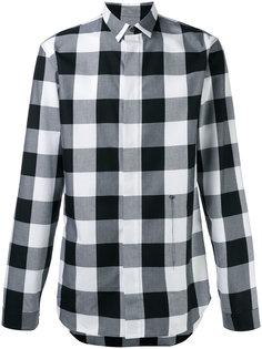 рубашка в клетку с потайной застежкой Dior Homme