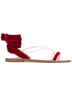 сандалии с завязкой на щиколотке  Valentino