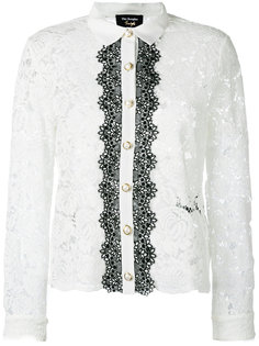 two-tone lace blouse The Kooples
