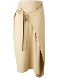 асимметричная юбка с завязкой спереди Joseph