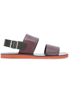 сандалии на контрастной подошве Marni