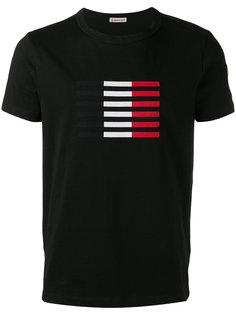футболка с контрастными полосками Moncler