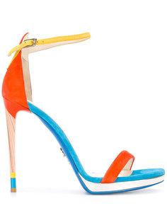 two strap heeled sandals Loriblu