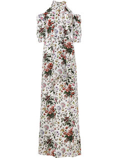 вечернее платье с цветочным принтом Annaliese Erdem