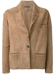 one-button suede jacket Simonetta Ravizza