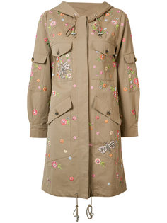 floral embroidered coat Needle & Thread