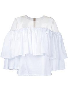 блузка с открытыми плечами и оборками Elaidi