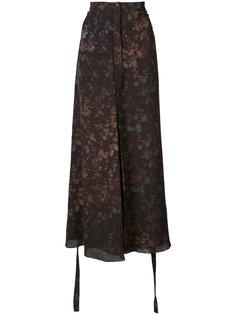 юбка с цветочным принтом Josh Goot