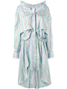 асимметричное платье-рубашка в полоску Esteban Cortazar
