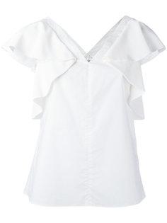 блузка с V-образным вырезом и оборками на рукавах Dorothee Schumacher