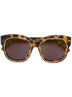 солнцезащитные очки с эффектом черепашьего панциря Stella McCartney