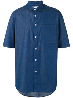 свободная рубашка шамбре с короткими рукавами Sunnei