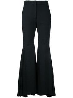 расклешенные плиссированные брюки Sara Battaglia